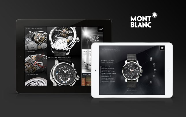 The Montblanc Timepieces iPad App – A Mobile Experience Unlike No Other (Photo Credit: Montblanc)