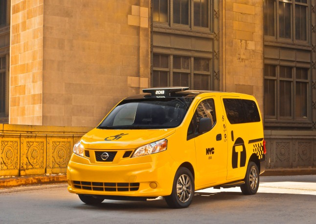 Nissan NV200 Mobility Taxi debuted at 2013 New York International Auto Show.  (PRNewsFoto/Nissan North America)