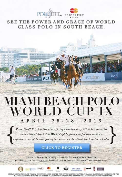 2013 Miami Beach Polo World Cup IX Poster