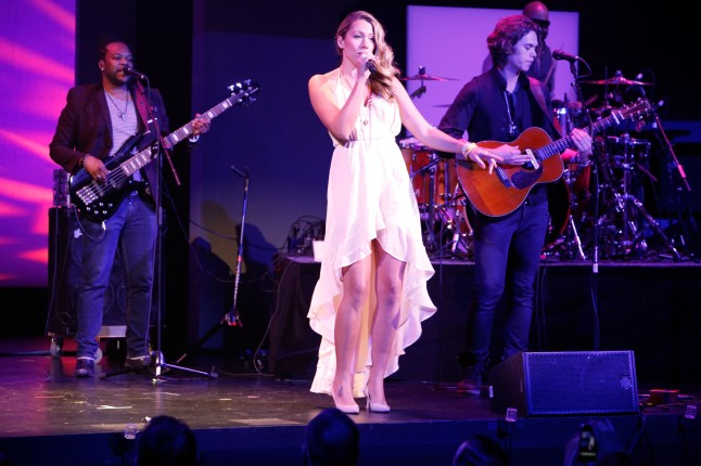 Colbie Calliet attends (and performs at) the Discovery Communications Upfront 2013 at Jazz at Lincoln Center on April 4, 2013 in New York City.
