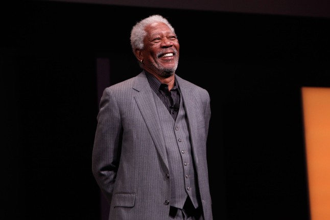 "Morgan Freeman from Science Channel's ""Through The Wormhole"" attends the Discovery Communications Upfront 2013 at Jazz at Lincoln Center on April 4, 2013 in New York City."