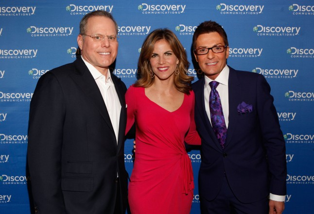 "Natalie Morales, Randy Fenoli from TLC's ""Say Yes to the Dress"" and ""Randy to the Rescue"" attends the Discovery Communications Upfront 2013 at Jazz at Lincoln Center on April 4, 2013 in New York City."