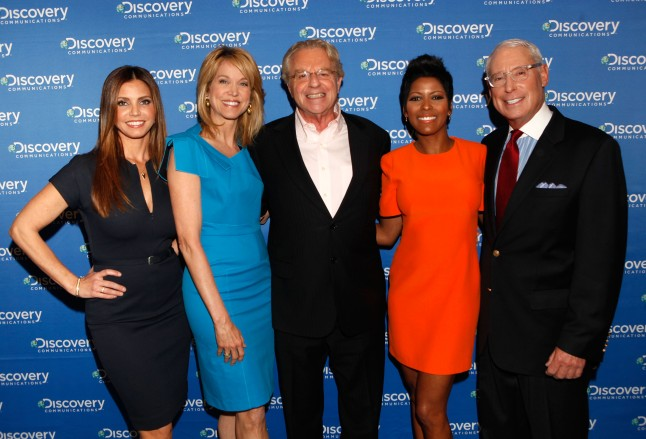 Tamron Hall and Henry Schleiff, President and General Manager, Investigation Discovery attends the Discovery Communications Upfront 2013 at Jazz at Lincoln Center on April 4, 2013 in New York City.
