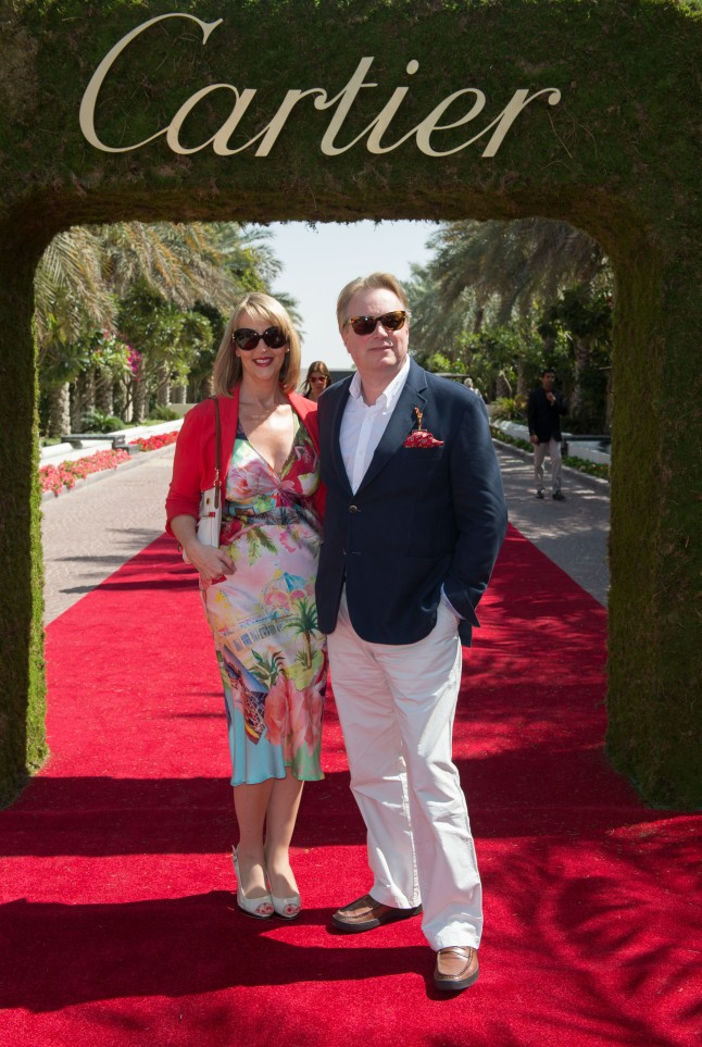 DUBAI, UNITED ARAB EMIRATES - FEBRUARY 22: Anne Rayner and Paul Rayner attend final day at the Cartier International Dubai Polo Challenge at the Desert Palm Hotel on February 22, 2013 in Dubai, United Arab Emirates. The event takes place under the patronage of HRH Princess Haya Bint Al Hussein, wife of HH Sheikh Mohammed Bin Rashid Al Maktoum, Vice President and Prime Minister of UAE Ruler of Dubai. The Cartier International Dubai Polo Challenge is the most celebrated tournament in the desert and one of three Cartier hosts each year including the Royal Cartier International Windsor Polo and Saint-Moritz Snow Polo event. (Photo by Ian Gavan/Getty Images for Cartier)