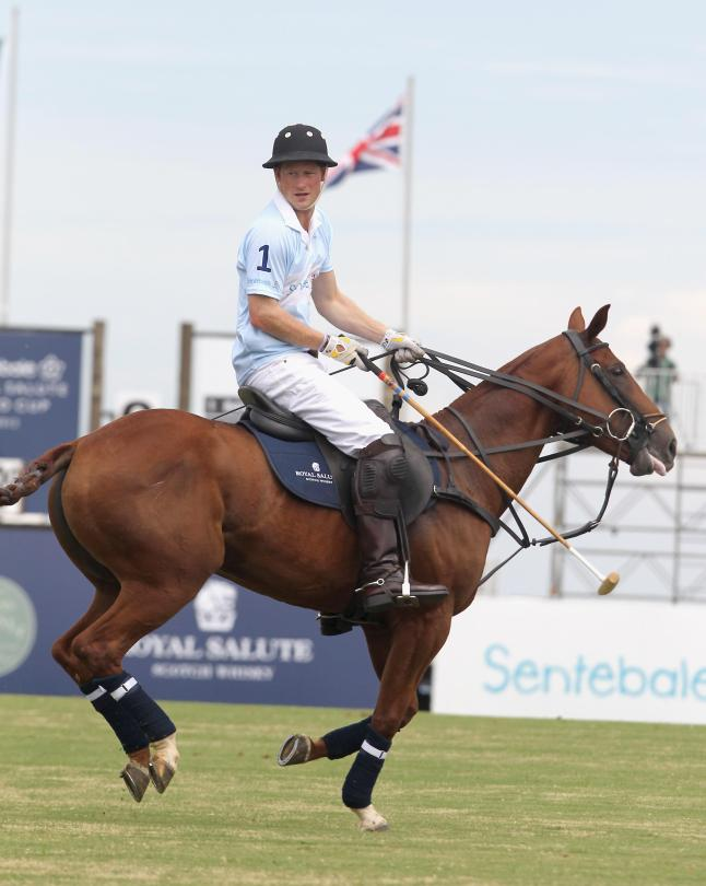 Prince Harry (HRH Prtince Henry of Wales) at the Sentebale Royal Salute Polo Cup Brazil 2012 on March 11, 2012 in Sao Paulo, Sao Paulo.