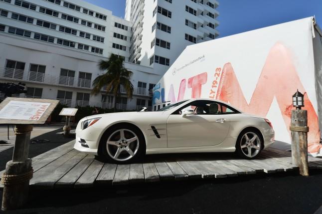 atmosphere during Mercedes-Benz Fashion Week Swim 2013 on July 19, 2012 in Miami Beach, Florida.