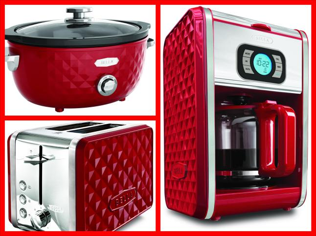 Bella Diamonds Coffee Maker Red : BELLA Expands Its Fashionable Line of Specialty Kitchen Appliances with the Launch of the BELLA ...