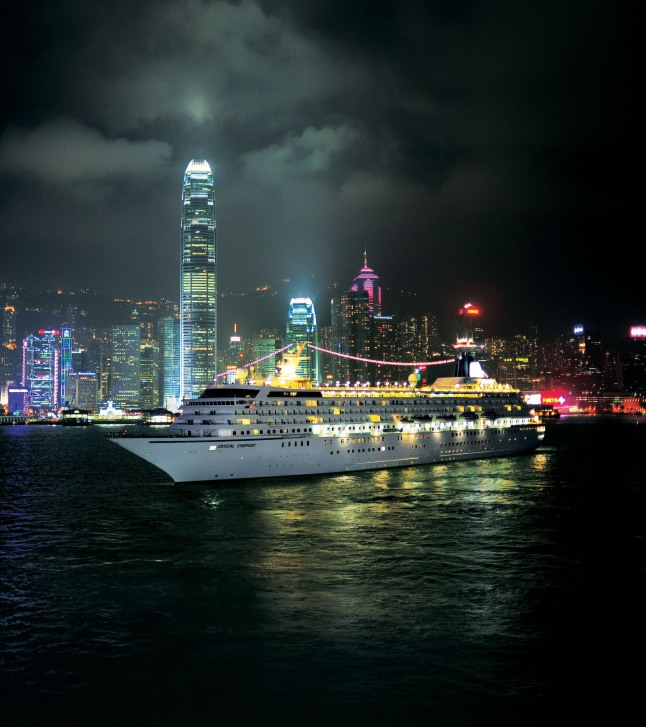 CRYSTAL CRUISES HONG KONG: Both ships overnight in Hong Kong on several cruises in 2014, including an exotic holiday voyage round-trip from Bangkok (and in Hong Kong on New Year's Eve!).  (PRNewsFoto/Crystal Cruises)