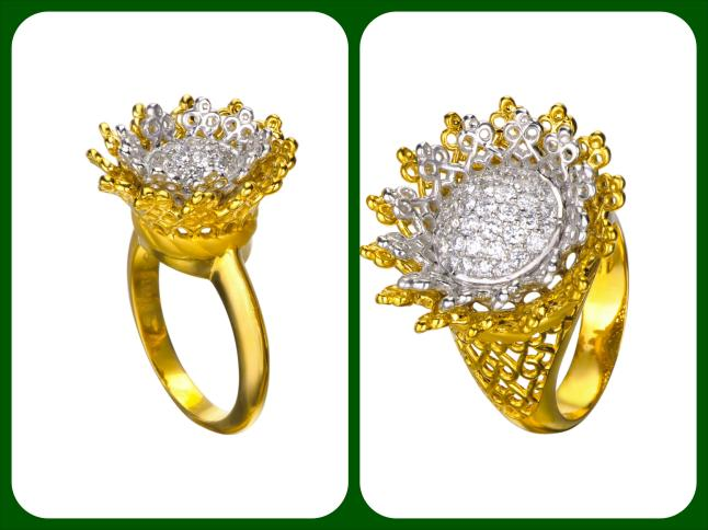 Carrera y Carrera Madrid - TESOROS DEL IMPERIO Collection - Reina Mini & Maxi Rings in Yellow & White Gold