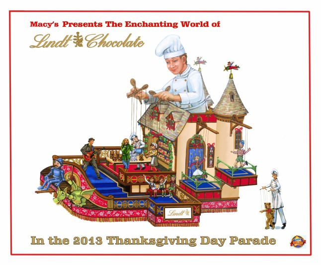 Artistic rendering of the Lindt float in the 2013 Macy's Thanksgiving Day Parade(R).  (PRNewsFoto/Lindt & Sprungli)