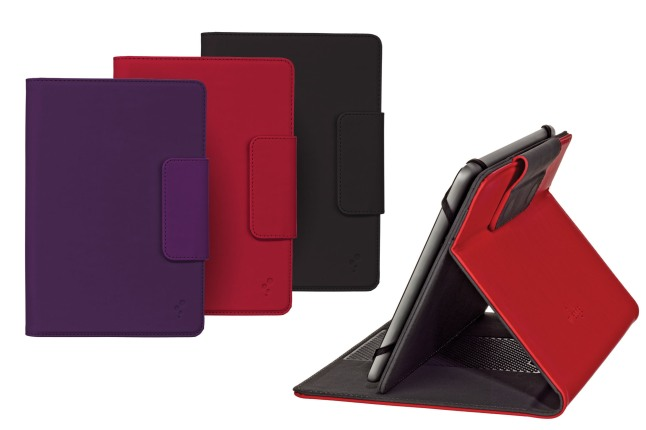 M-Edge's Google Nexus 7 case, the Stealth, is available now at www.medgestore.com. The Stealth Case is an ultra-slim and lightweight folio made specifically for 7 inch devices. The Stealth holds the Nexus securely in place with a durable MultiFit(TM) silicone mount (patent pending). It achieves infinite stand angles using M-Edge's GripTrack(TM) technology (patent pending), a friction-based solution that provides the user with any typing or viewing position desired. The Stealth case is made with buttery smooth, soft-touch coated leather and is secured via a magnetic closure strap.  (PRNewsFoto/M-Edge)
