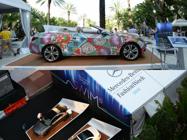 A general view of  Mercedes-Benz Fashion Week Swim 2014 in Miami Beach, Florida.