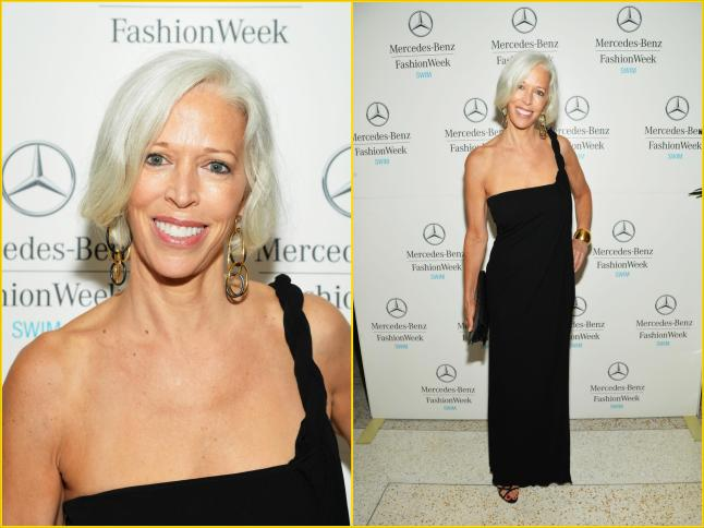 Bergdorf Goodman's Linda Fargo at Mercedes-Benz Fashion Week Swim 2014 at the Raleigh on July 20, 2013 in Miami Beach, Florida.