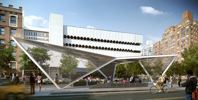 The New York City AIDS Memorial will feature an 18-foot steel canopy as the dramatic gateway to the new St. Vincent's Hospital Park in the West Village neighborhood.  For more information or to support the memorial, visit http://nycaidsmemorial.org.  Rendering: a2t for studio a+i.  (PRNewsFoto/New York City AIDS Memorial)
