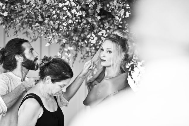 "Campari Calendar 2014 ""Worldwide Celebration"". Star: Uma Thurman. Photographer: Koto Bolofo. Behind the scenes images by Francesco Pizzo."