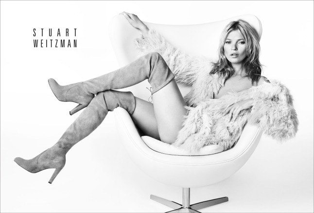 Kate Moss Fronts Stuart Weitzman's Fall 2013 Advertising Campaign.  (PRNewsFoto/Stuart Weitzman)