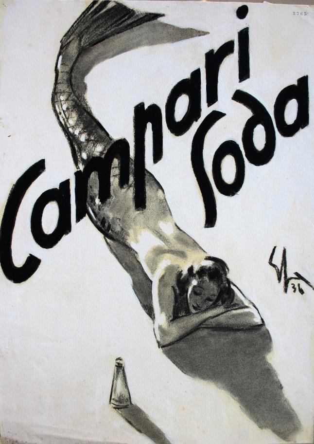 Vintage Campari Sacchetti Print Ad from 1936