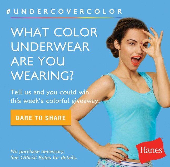 Hanes(R) Invites Women To Join Candid Color-Filled Intimates Conversation.  (PRNewsFoto/Hanes)