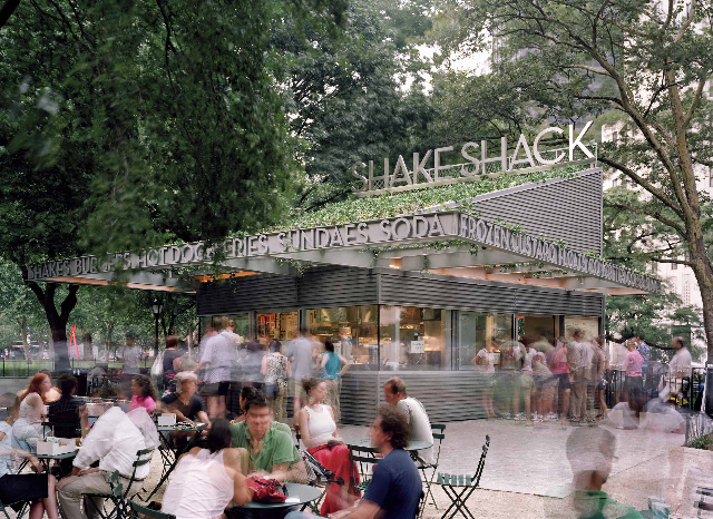 Archtober III's 'Building of the Day' October 11th, Madison Square Park's Shake Shack kiosk.