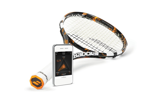Babolat unveils yet another breakthrough innovation to the game of tennis: the new Babolat Play Pure Drive. Babolat Play, the world's first connected tennis racquet, allows every player to live a unique experience based on progression, fun and sharing. Sensors integrated into the handle of the Babolat Play racquet allow players to have access to exciting data about their game including shot power and ball impact location, adding concrete information to the sensations they already receive. The commercial launch of the Babolat Play Pure Drive is planned for December 2013 in the US. www.babolat.com / www.Facebook.com/Babolat.  (PRNewsFoto/Babolat)