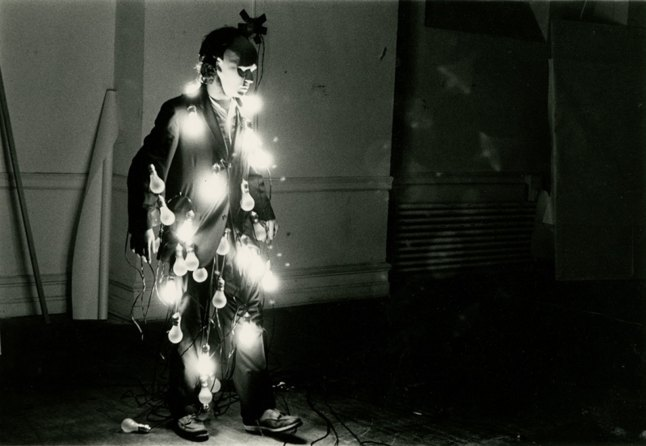 Jared Bark (b. 1944), LIGHTS: on/off, performance at The Clocktower, June 21, 1974. Photograph by Babette Mangolte; © 1974. All reproduction rights reserved
