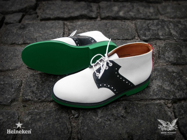 #Heineken100 Mark McNairy White Chukka Saddle Boot.  (PRNewsFoto/HEINEKEN USA Inc.)