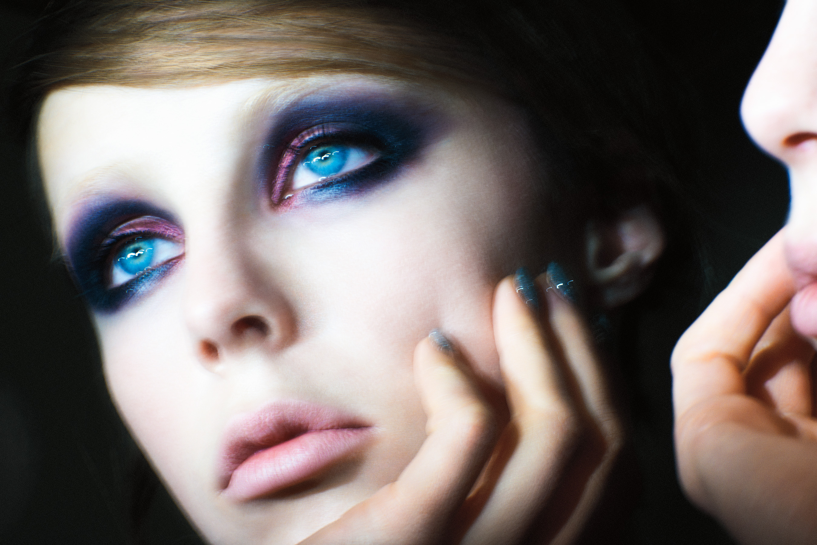 Marc Jacobs Beauty Campaign Image with Edie Campbell