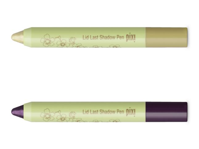 Pixi Lid Last Shadow Pen in new Gentle Gold and Perfect Plum