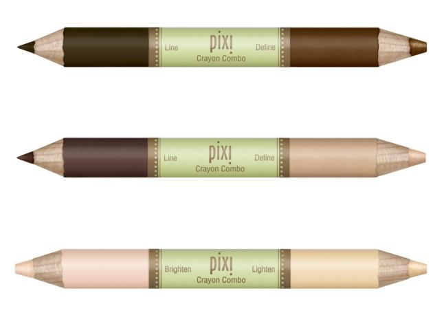 Pixie Crayon Combo in Wide Awake (nude + ivory), Super Natural (deep taupe + nude) and Softly Smoky (deep brown + deep bronze)