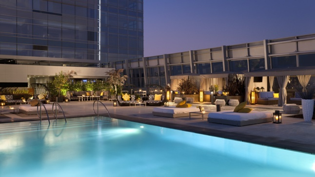 Rooftop Pool Area at The Ritz-Carlton, Los Angeles