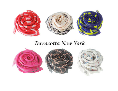 Terracotta New York Scarves