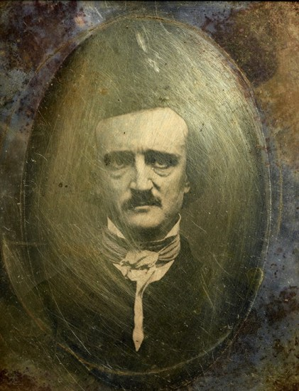 "Studio of Samuel Masury and S. W. Hartshorn; Edwin Manchester, photographer; ""Ultima Thule"" daguerreotype portrait (contemporary copy) of Edgar Allan Poe, November 9, 1848; The Morgan Library & Museum, New York, MA 8658; Purchased by Pierpont Morgan, 1909 (photography: Graham S. Haber)"