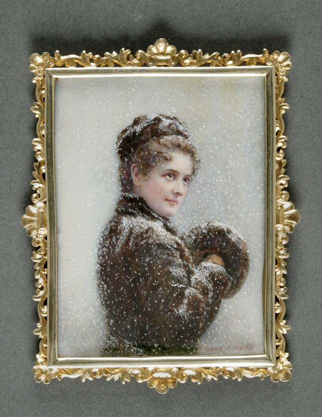 Meave Thompson Gedney (1863-1905), Mrs. William Waldorf Astor (Mary Dahlgren Paul, 1856-1894), 1890. Watercolor on ivory, Gift of the Estate of Peter Mari