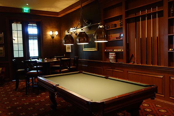 Billiards room at the Salamander Resort & Spa