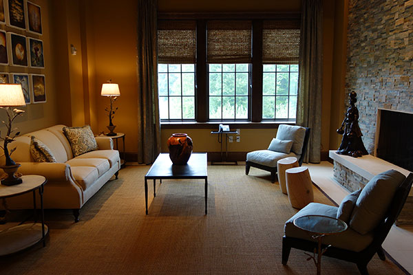Living Room area in one of the 17 suites at the Salamander Resort & Spa