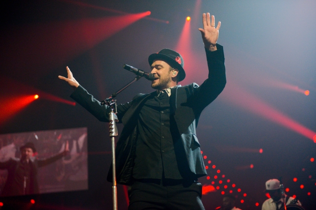 Justin Timberlake performs onstage during the iHeartRadio Music Festival at the MGM Grand Garden Arena on September 21, 2013 in Las Vegas, Nevada. (Photo by Todd Owyoung/Getty Images for Clear Channel)