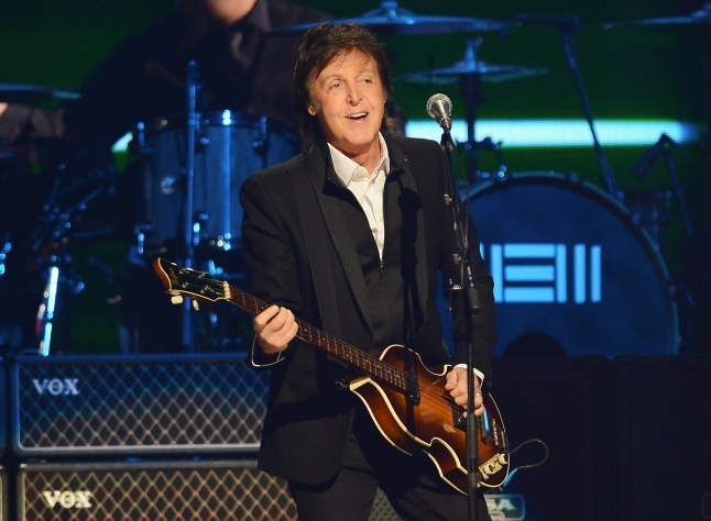 LAS VEGAS, NV - SEPTEMBER 21:  Sir Paul McCartney performs onstage during the iHeart Radio Music Festival Village on September 21, 2013 in Las Vegas, Nevada.  (Photo by Ethan Miller/Getty Images for Clear Channel)