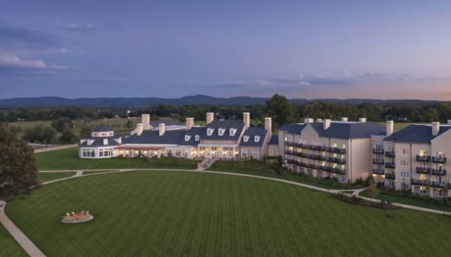 All  17 suites and half of the guestrooms Salamander Resort & Spa features expansive countryside views