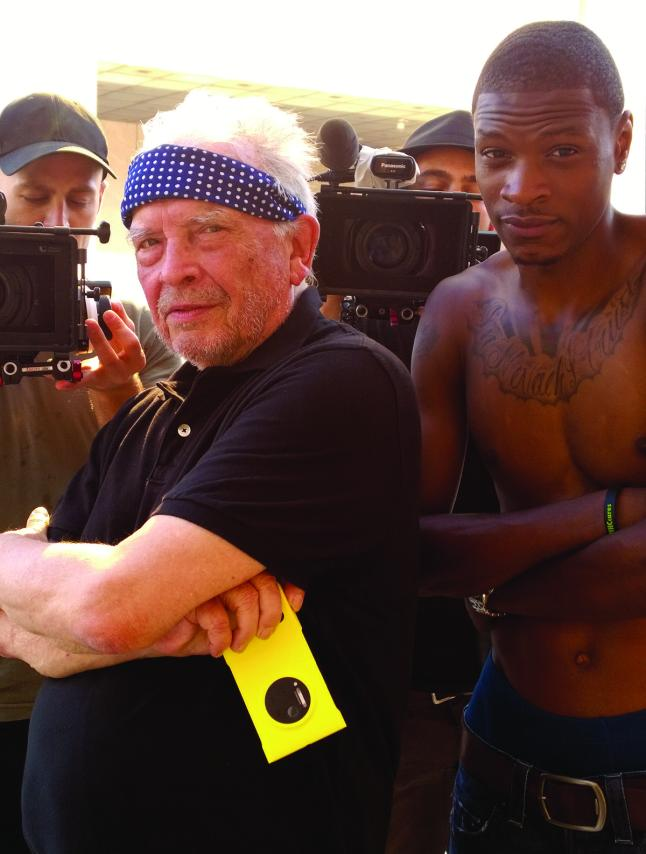 Behind the scenes image of the Bruce Weber and David Bailey (above) Nokia Lumia 1020 Shoot; in Harlem; New York. Images taken on a Nokia Lumia 1020