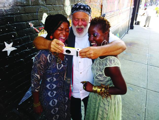 Behind the scenes image of the Bruce Weber and David Bailey Nokia Lumia 1020 Shoot; in Harlem; New York. Images taken on a Nokia Lumia 1020