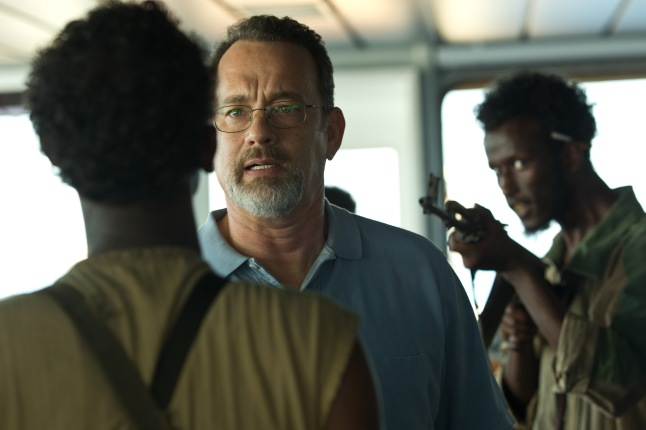 "Tom Hanks stars in Columbia Pictures' ""Captain Phillips,"" a high-stakes thriller based on true story of the 2009 hijacking of the U.S. container ship Maersk Alabama by a crew of Somali pirates"