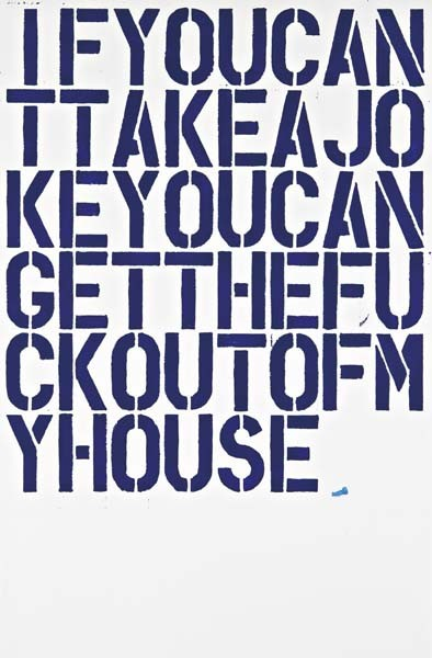 Christopher Wool's Untitled (And If You Can't…)