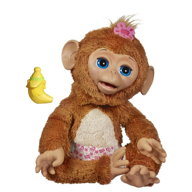 FurReal Friends® Cuddles My Giggly Monkey Pet from Hasbro®