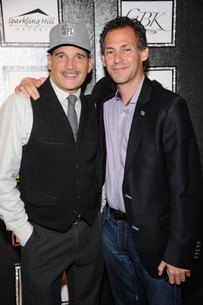 Designer Phillip Bloch with CEO & Founder of GBK Productions, Gavin Keilly at NYFW Style Lounge by GBK