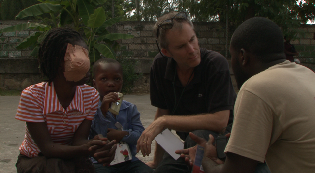 Filmmaker Dan Shannon in Haiti in a scene from the film 'HAITI UNTOLD' premiering exclusively on the series SOMETHING TO TALK ABOUT on DirecTV's Audience network.