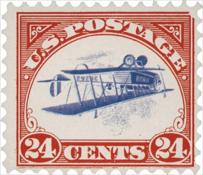 The original 24-CENT 1918 CURTISS JENNY INVERTED
