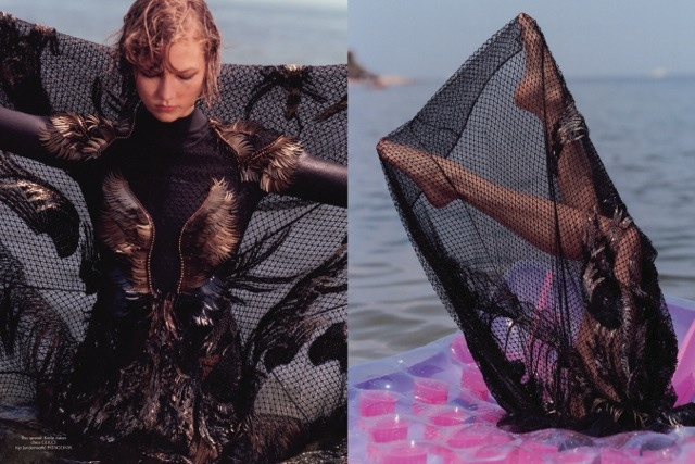 Karlie Kloss in Love Washes All Over by Bruce Weber