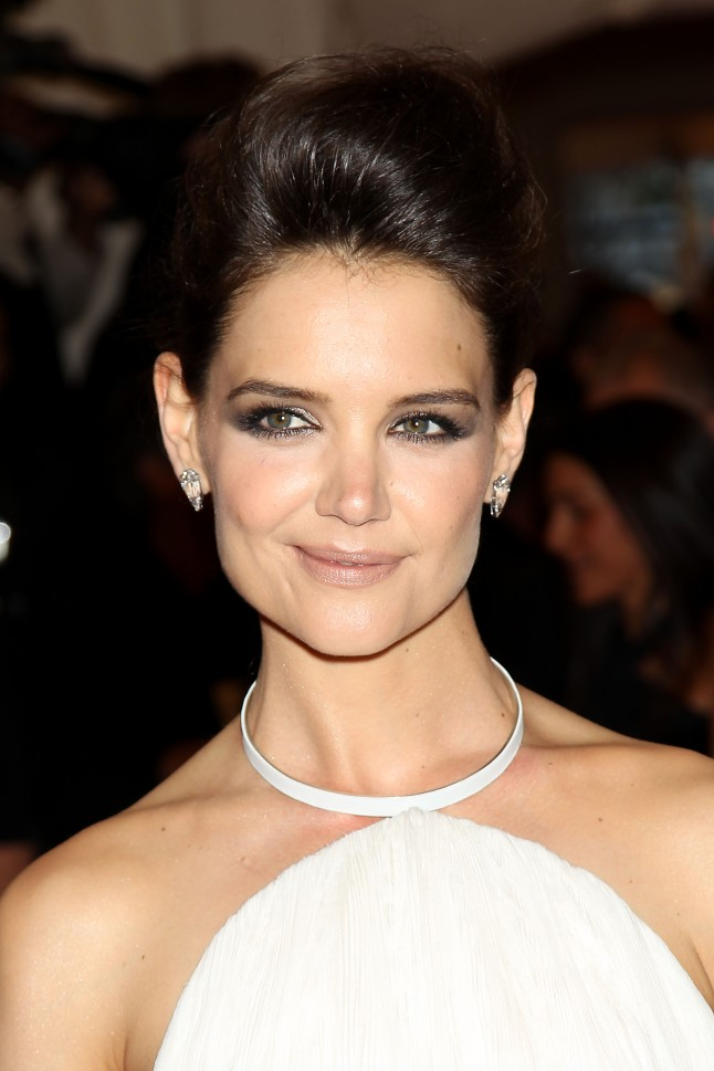 Katie Holmes in Platinum Jewelry at the Met Gala, New York, New York - 05/06/2013 - PUNK: Chaos To Couture Costume Institute Gala at the Metropolitan Museum of Art. PHOTO by: Marion Curtis/Startraksphoto.com -MC98377543)