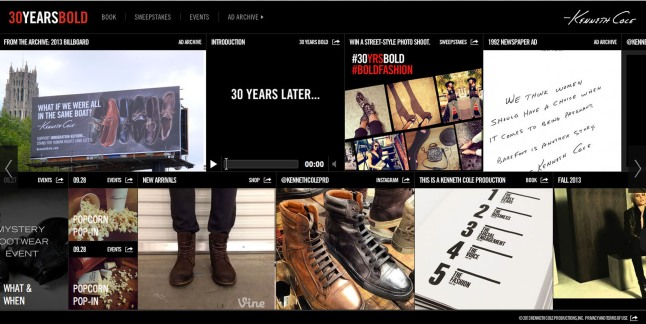 30yearsbold.com. (PRNewsFoto/Kenneth Cole Productions, Inc.)