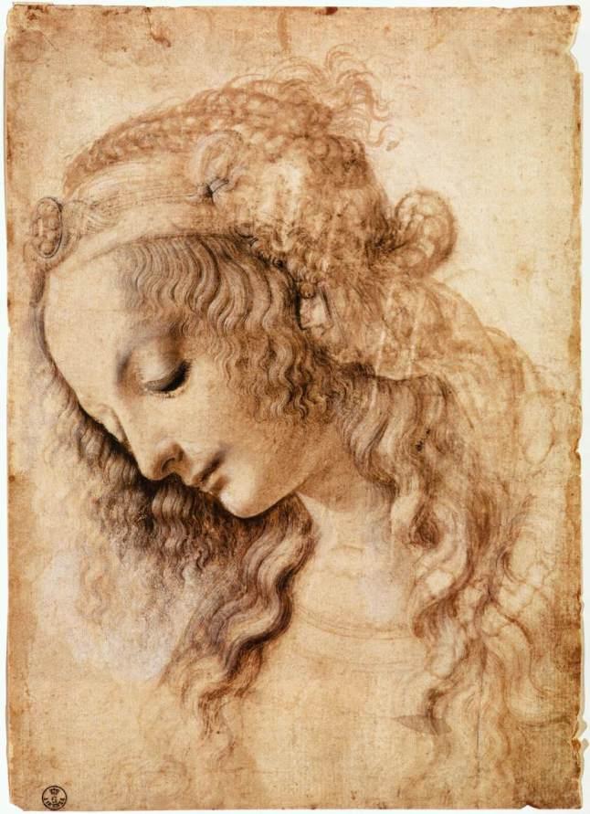 Leonardo da vinci''s Head of a Young Woman